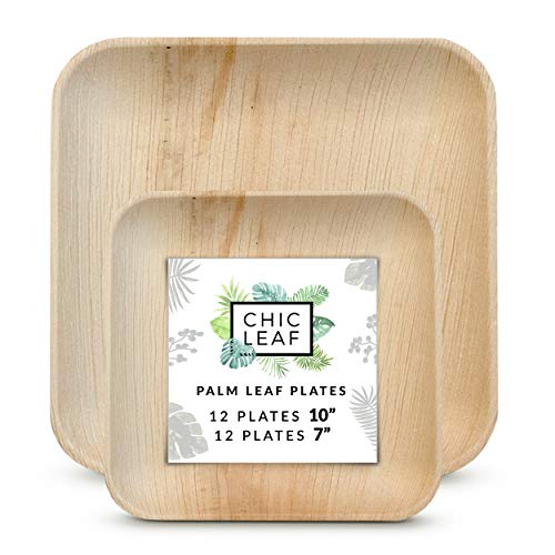"10"" + 7"" Palm Leaf Plates Set"