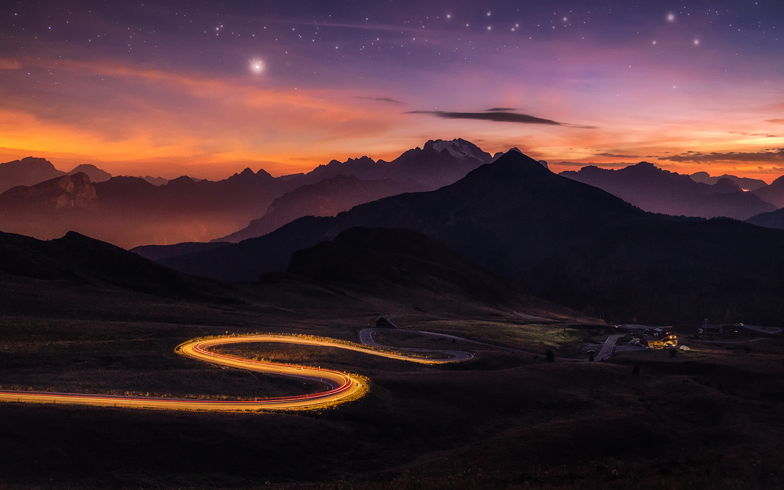 Passo giau starry night