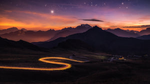 Passo Giau starry night.