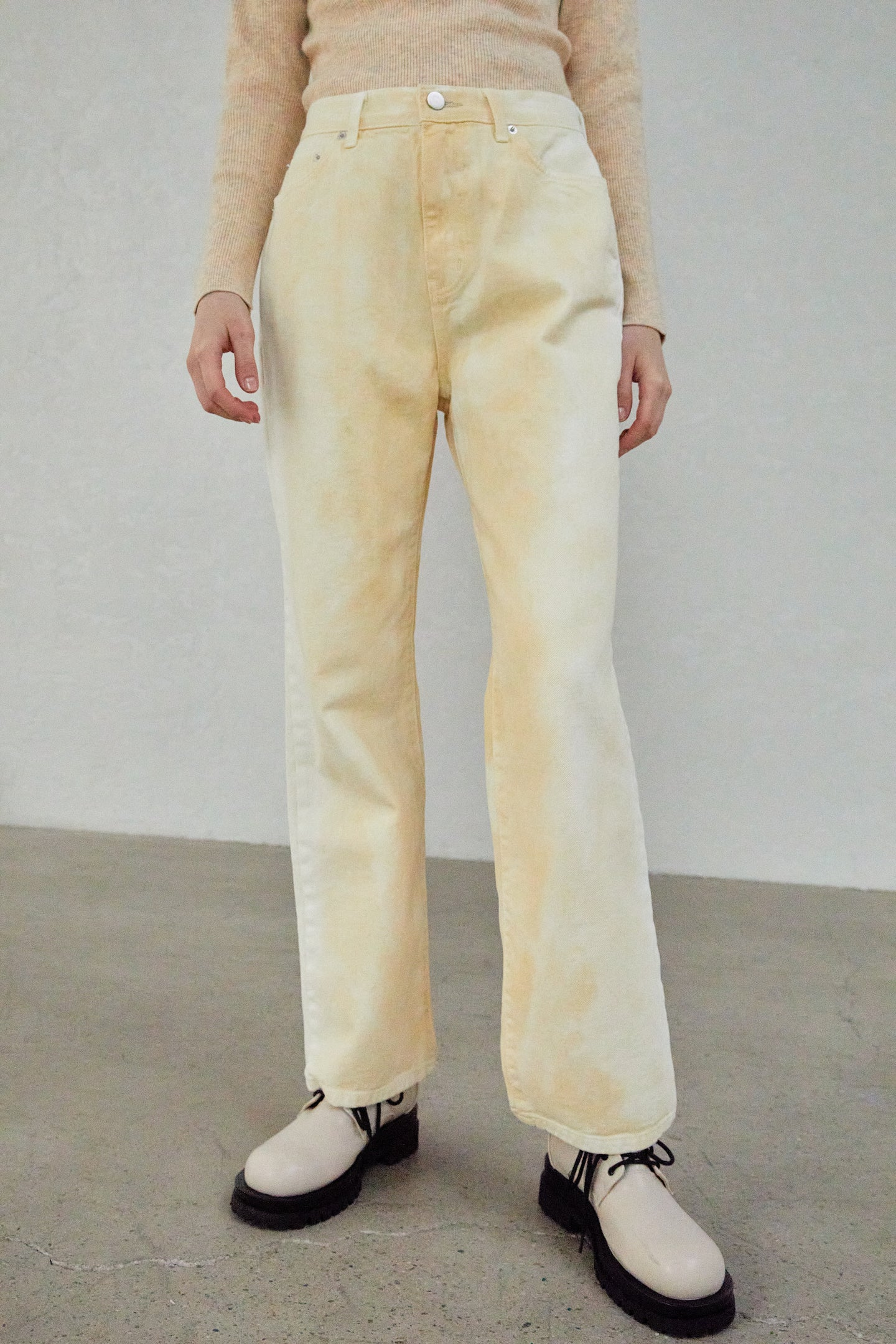 TIE DYE RELAXED JEANS, BANANA by Source Unknown, available on thesourceunknown.com for $88 Kendall Jenner Pants Exact Product