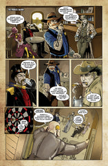 Last Ride of the 4 Horsemen Steampunk Comic Issue 1 Page 4 Art by Nathan Smith & Gavin Michelli featuring Famine Horseman and HorseLast Ride of the 4 Horsemen Steampunk Comic Issue 1 Page 1 Art by Nathan Smith & Gavin Michelli featuring Cager Dobbin