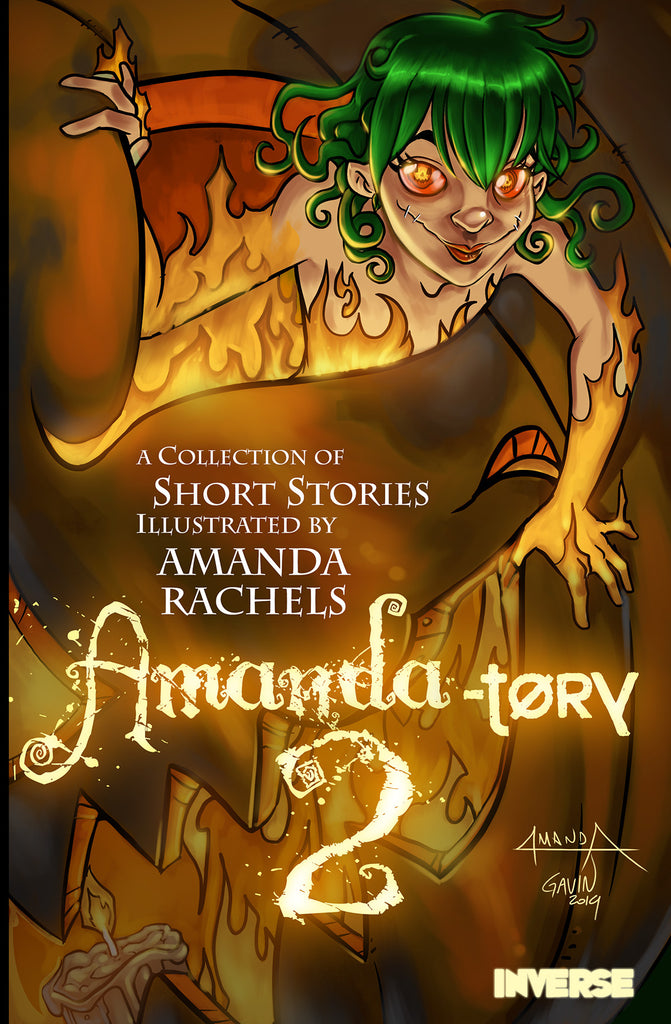 Cover art for Amandatory 2 comic anthology by Amanda Rachels with colors by Gavin Michelli