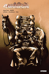 Last Ride of the 4 Horsemen Steampunk Comic Cover by Oscar Pinto featuring Death Horseman and Horse