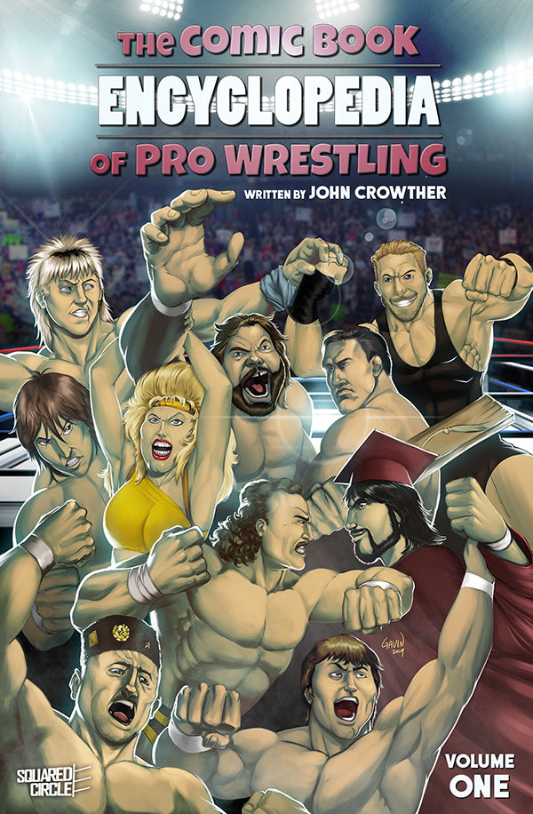 Gavin Michelli Cover Art for The Comic Book Encyclopedia of Pro Wrestling