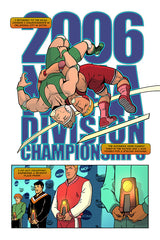 Jake Hager (aka Jack Swagger) Wrestling Comic NCAA Competition
