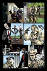 Last Ride of the 4 Horsemen Steampunk Comic Issue 2 Page 4 Art by Nathan Smith & Gavin Michelli featuring Cager Dobbin
