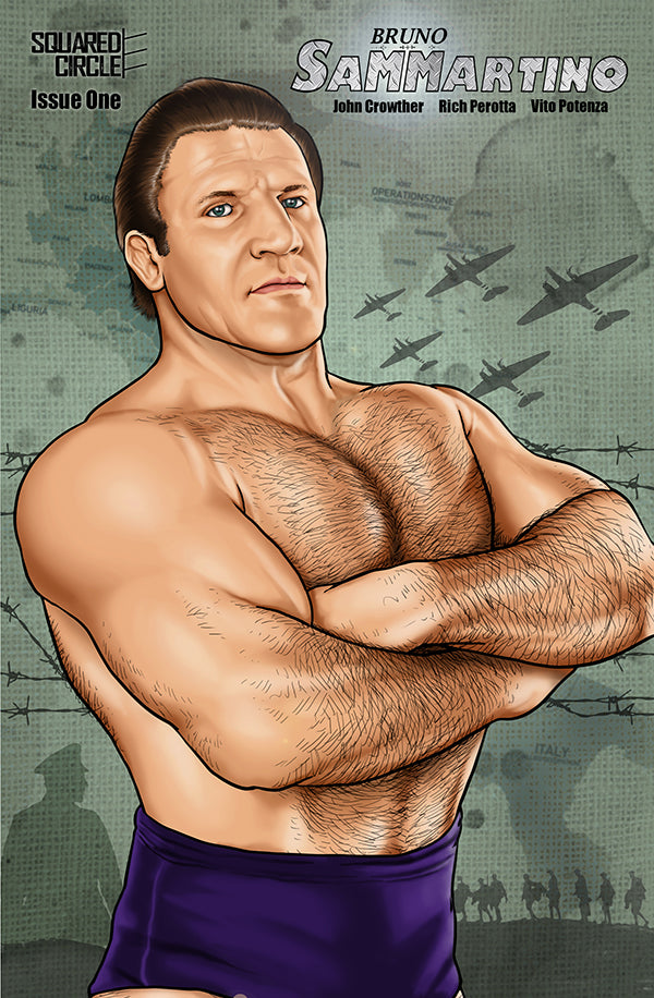 Bruno Sammartino Wrestling Comic cover by Nathan Smith