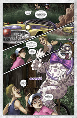 Vicious Circus Graphic Novel Page 3 Art by Amanda Rachels featuring Killer Clowns