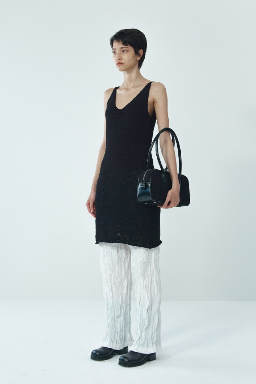 COTTON KNIT SLEEVELESS DRESS BY THEOPEN PRODUCT IN BLACK