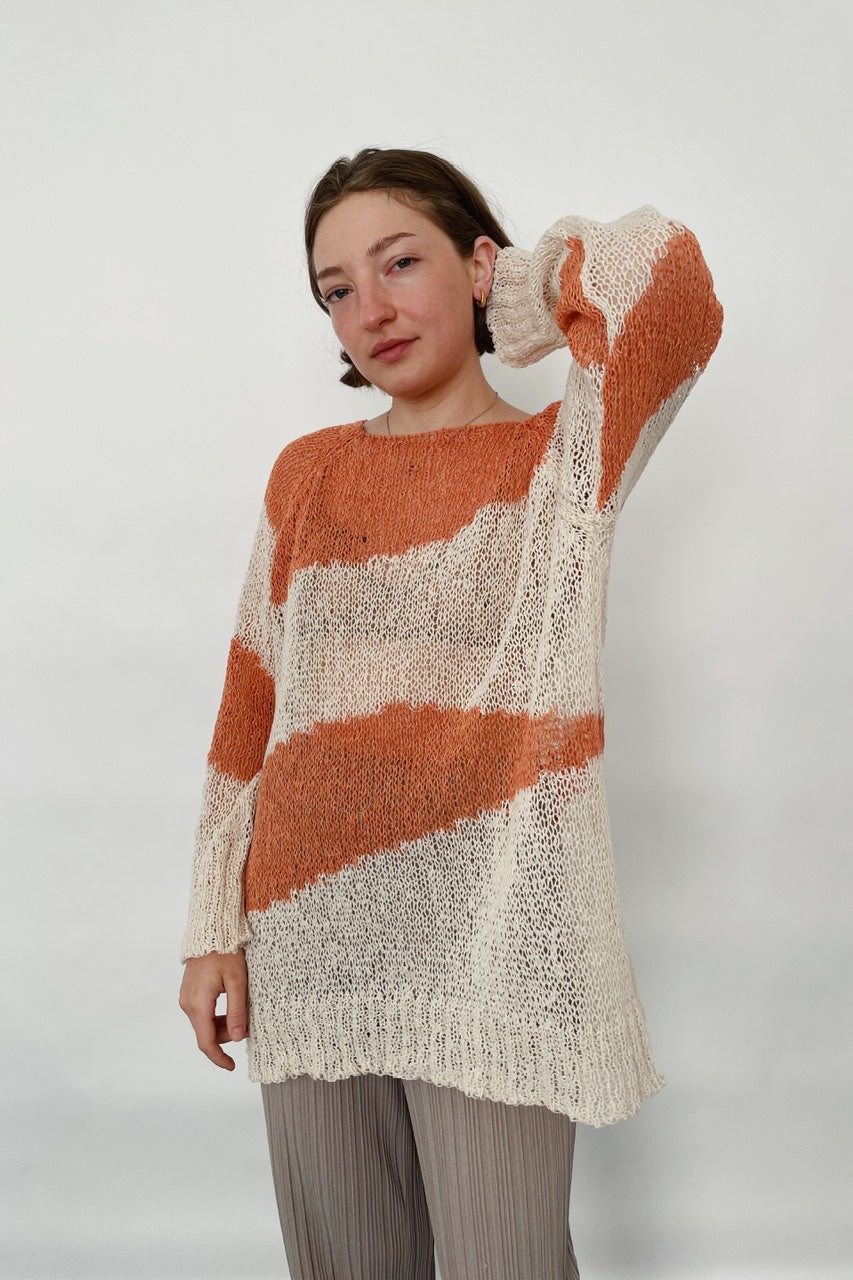 Stripe Knit Top in Orange