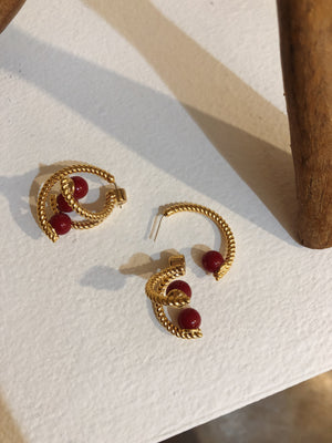 Red Point Earrings