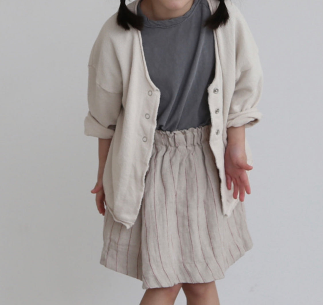 Ivory Snap Button Cardigan