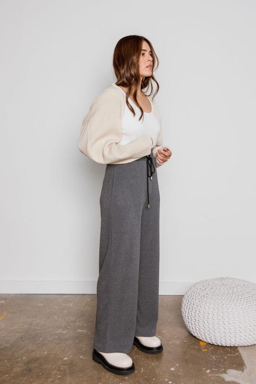 Ribbed Bolero Cardigan