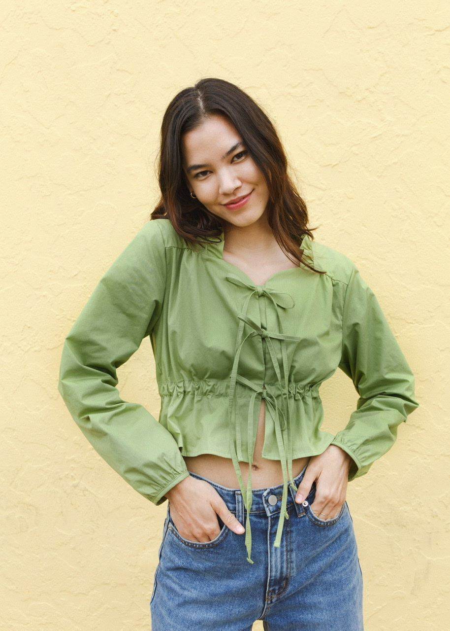 Crop String Cardigan / Shirts (3 Colors)