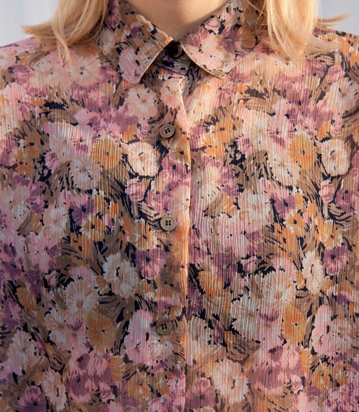 Flower Button Up Shirt