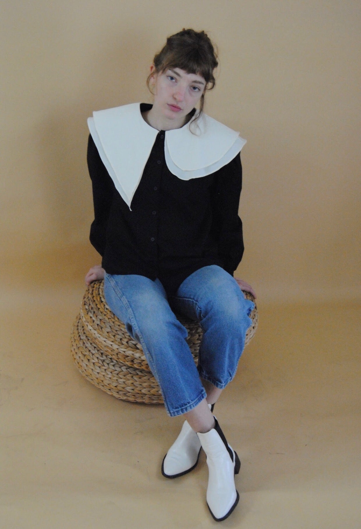 Two Layered Collar Shirt