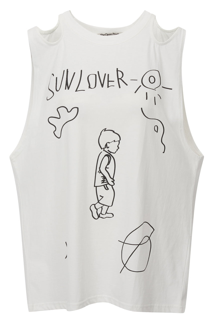 SHOULDER CUT-OUT BOY TOP BY THEOPEN PRODUCT IN WHITE
