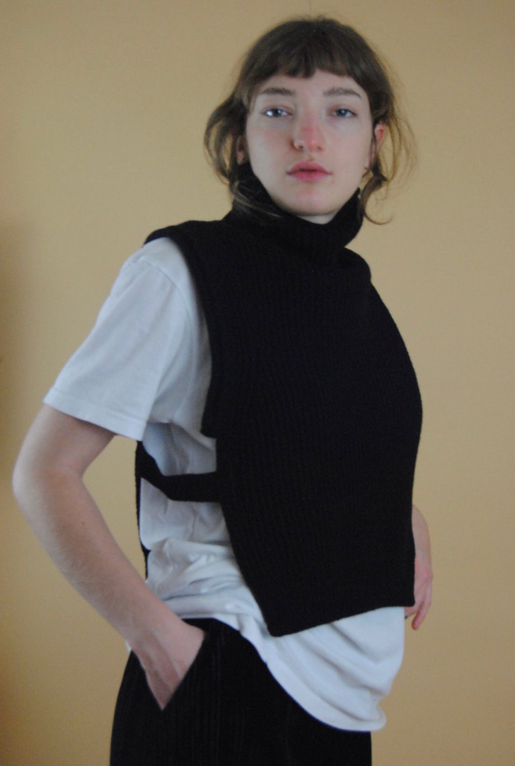 Turtleneck Knit Vest (3 Colors)