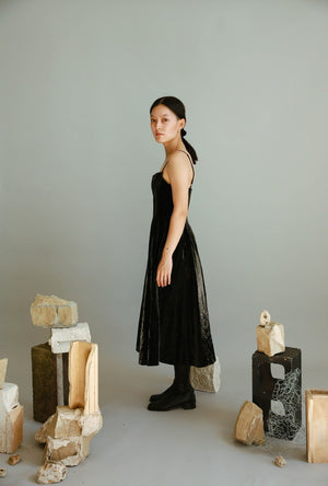 Vegan Leather Tank Dress in Black