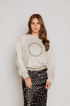 More than Paradise Sweatshirt in Melange Gray