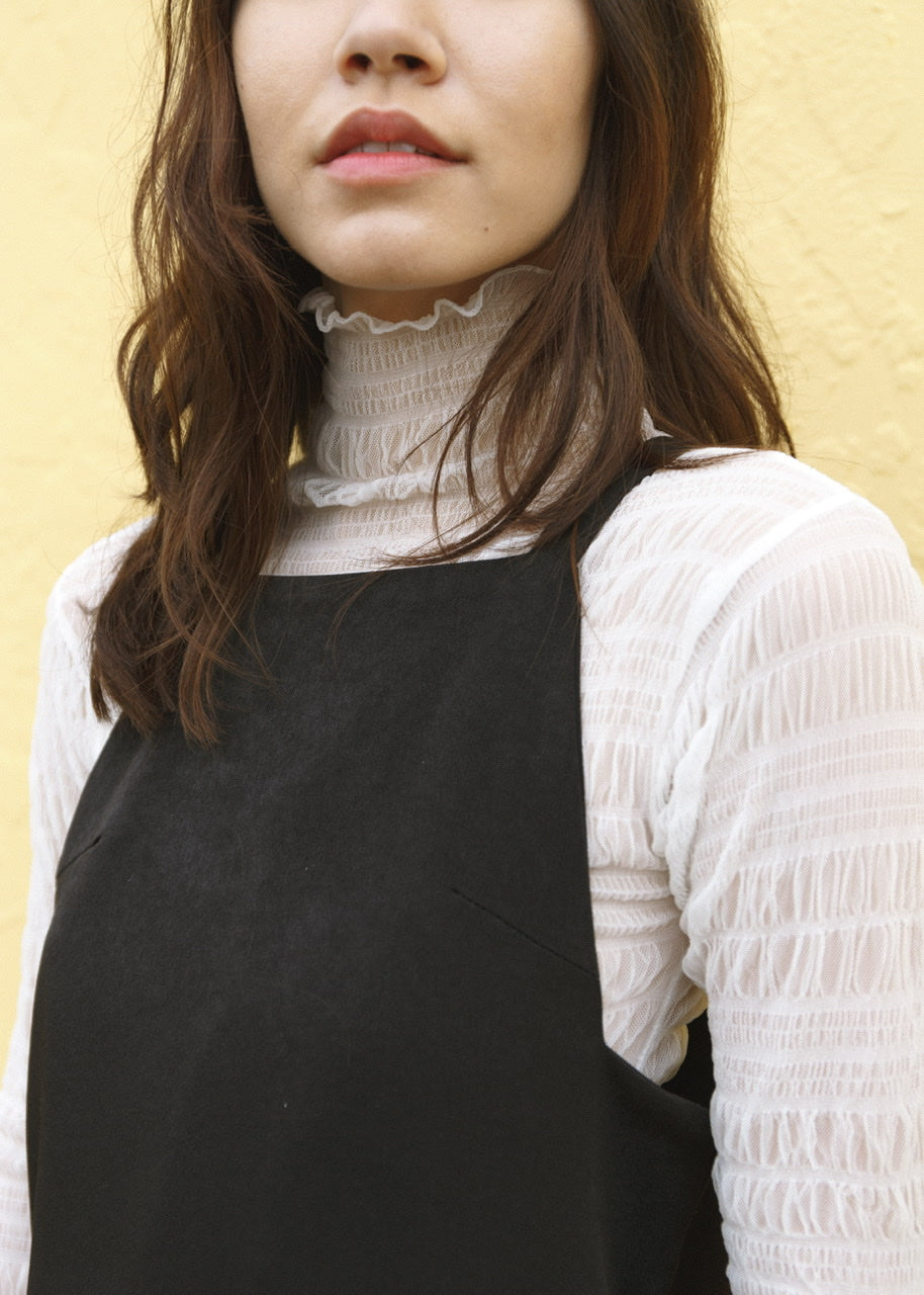 Mesh Turtleneck Top