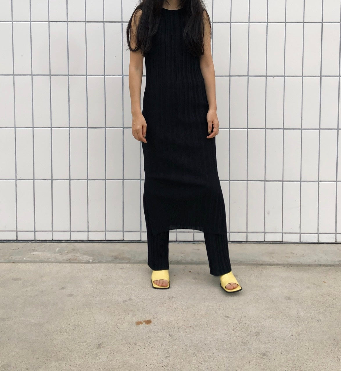Pleated Long Dress