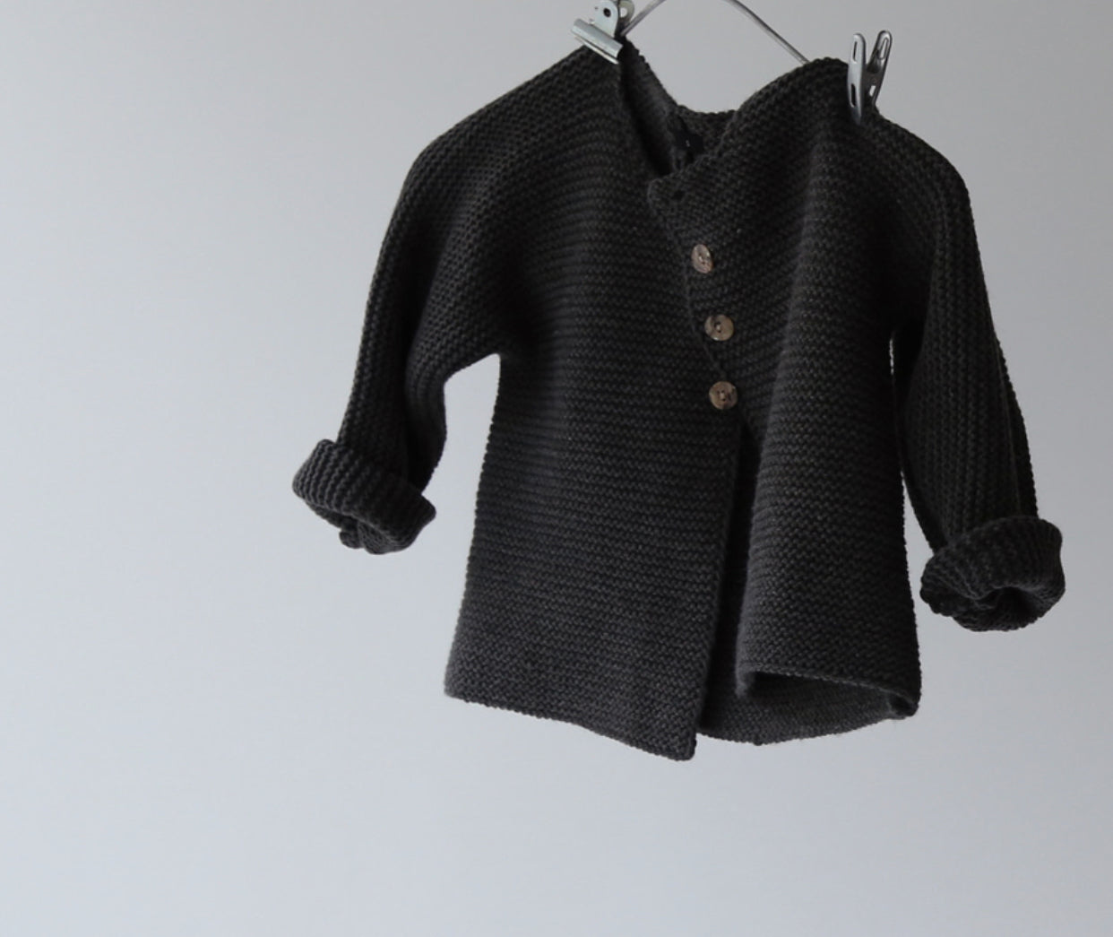 Dark Gray Knit Cardigan