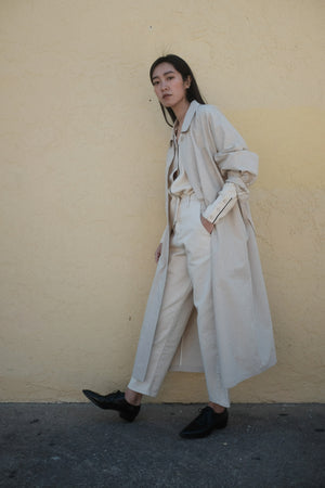 Cotton Trench Coat (2 Colors)
