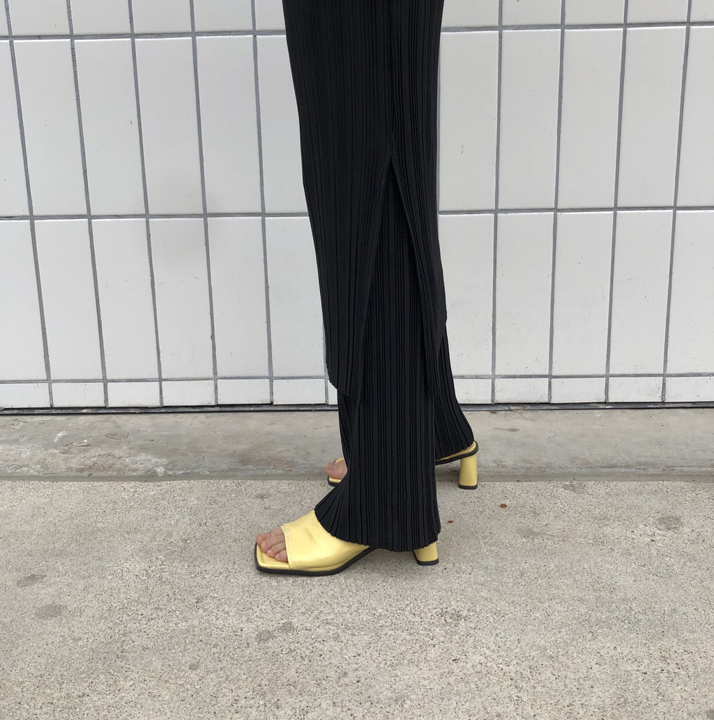 Pleated Long Pants (2 Colors)