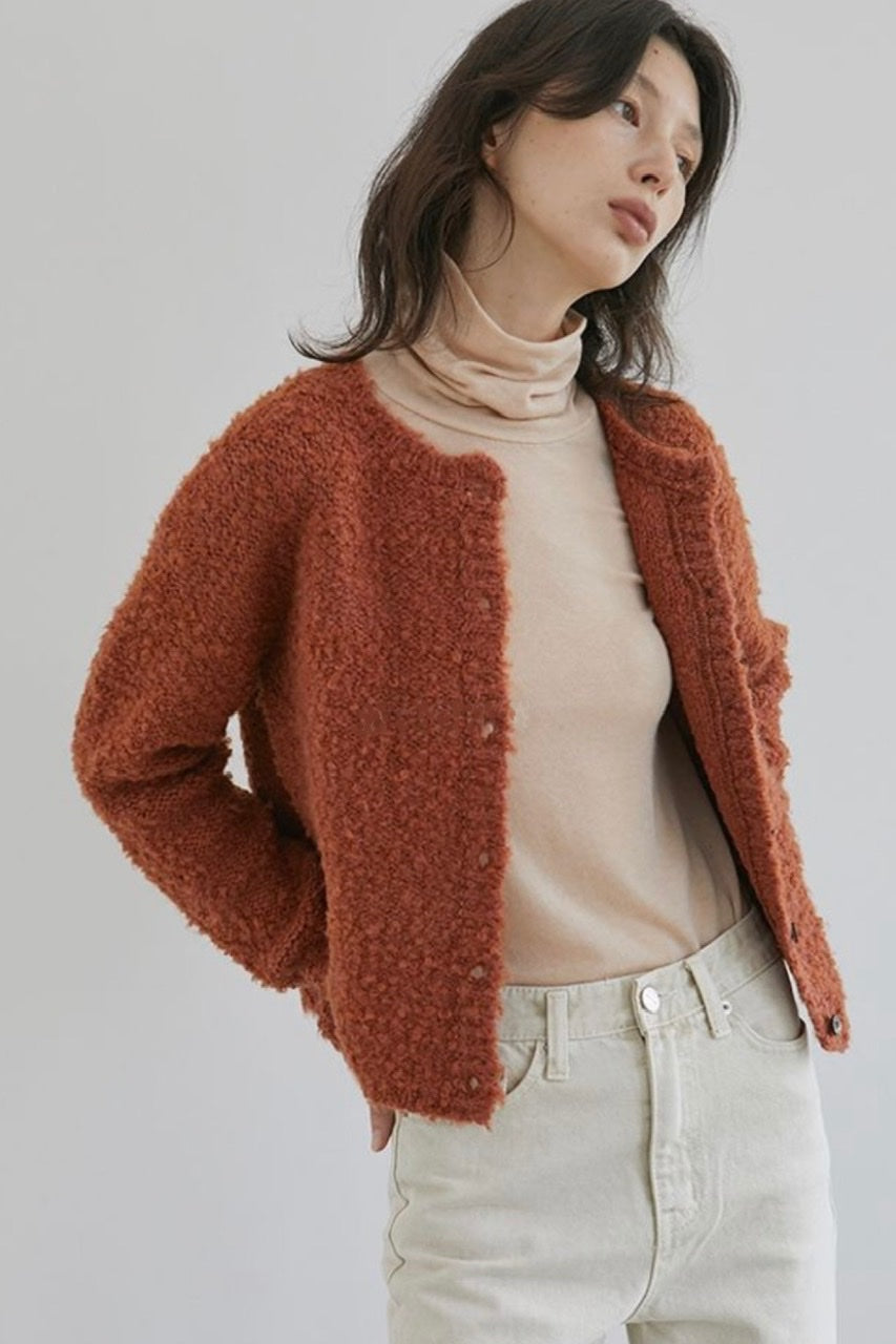 Orange Knit Cardigan