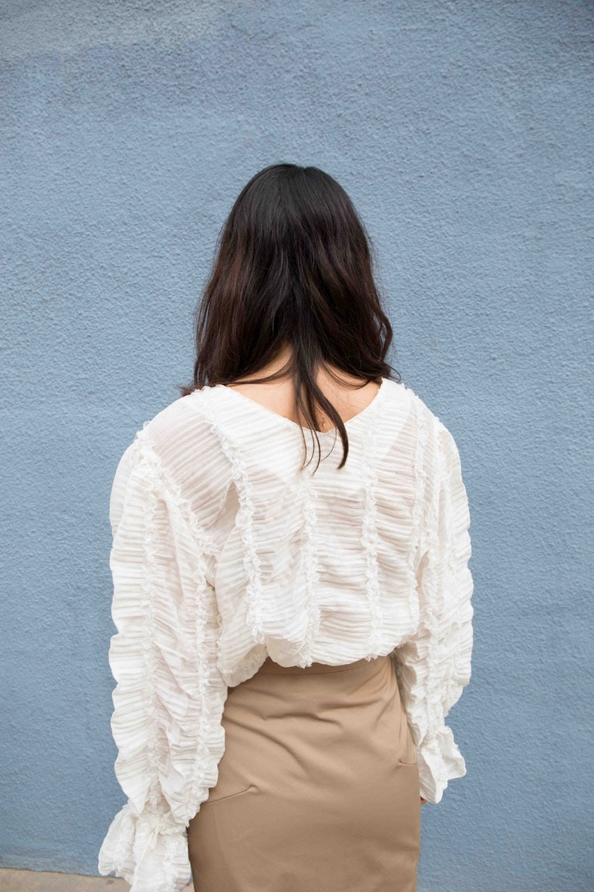 V-Neck Lace Shirt