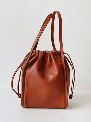 Drawstring Leather Bag
