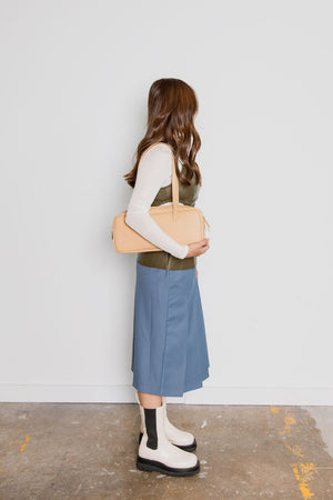Vegan Leather Shoulder Bag(2 Colors)