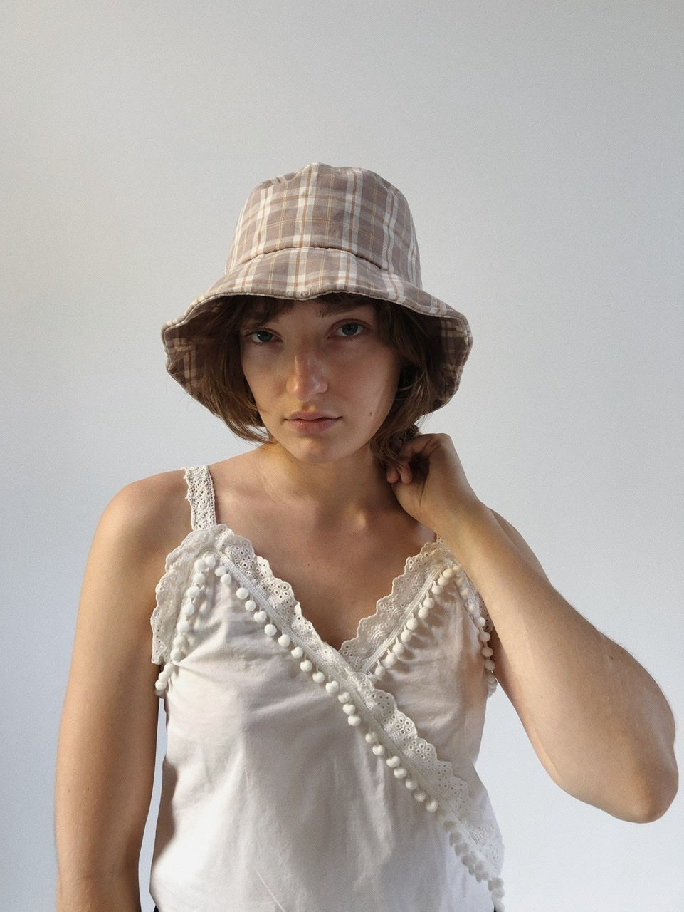 Gingham Bucket Hat