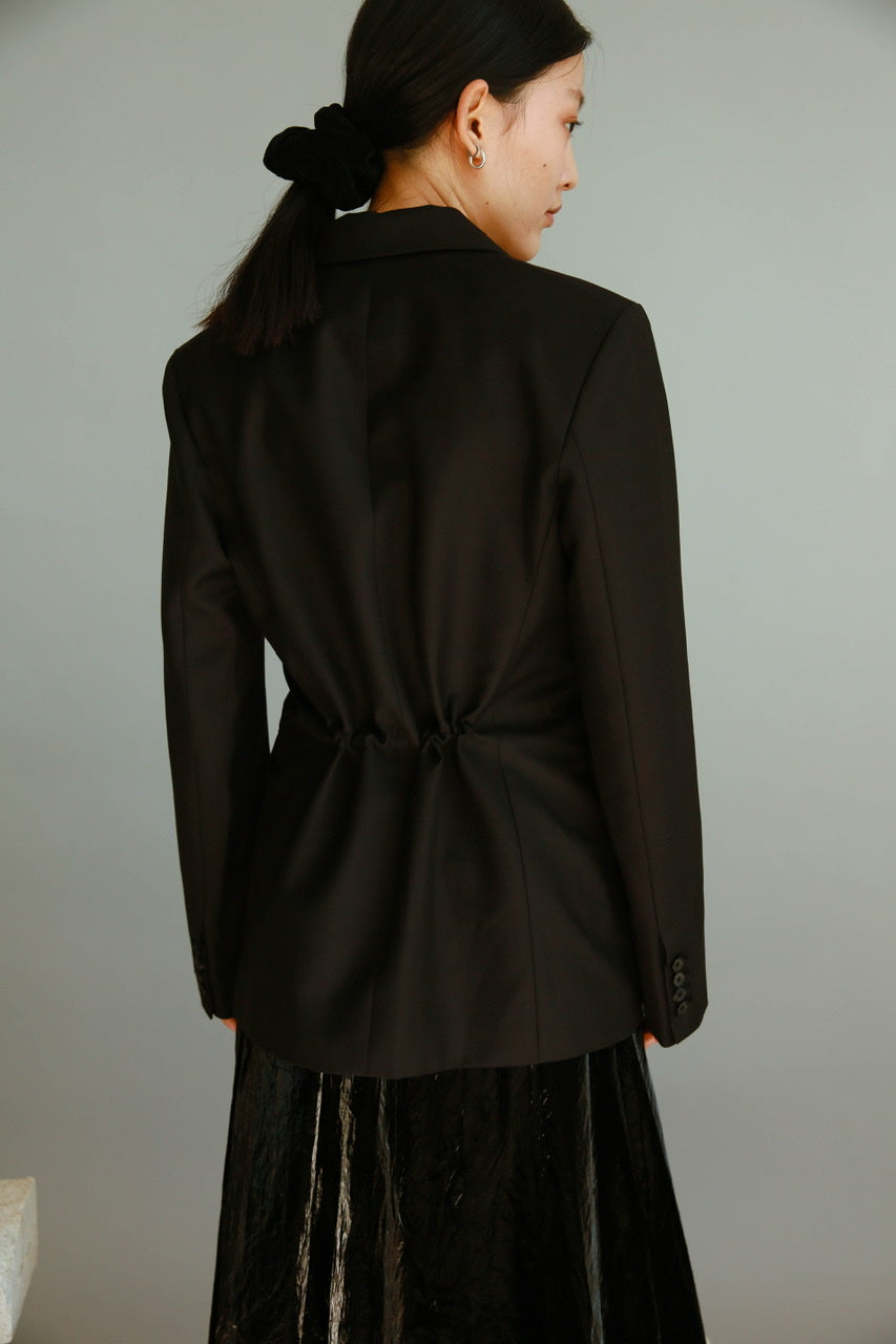 Hidden String Blazer in Black