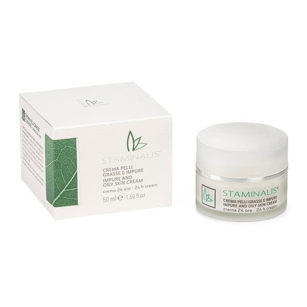 CREMA VISO PELLI GRASSE E IMPURE – IMPURE AND OILY SKIN CREAM - Staminalis Skin Care