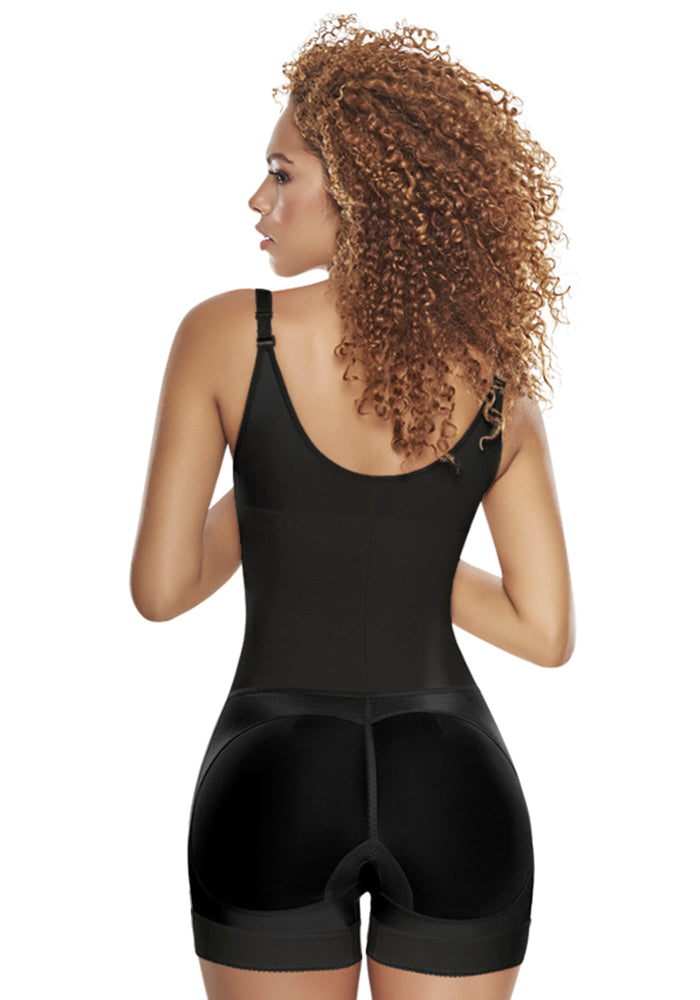 1200 Slimming Braless Body Shaper in Boyshort black