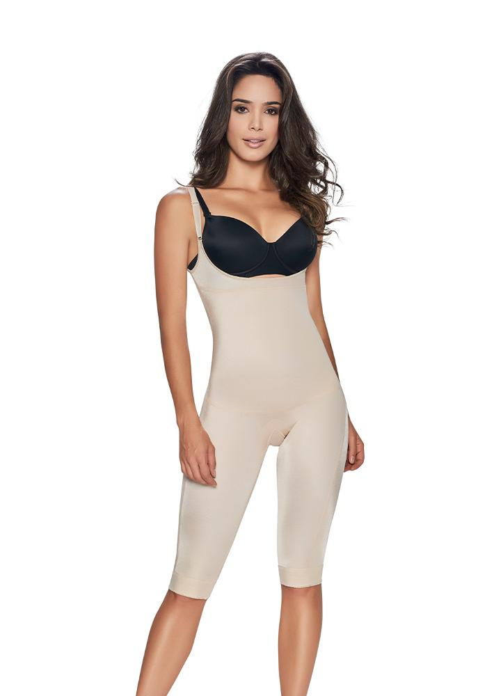 1255 slimmer and firm control open bust bodysuit nude