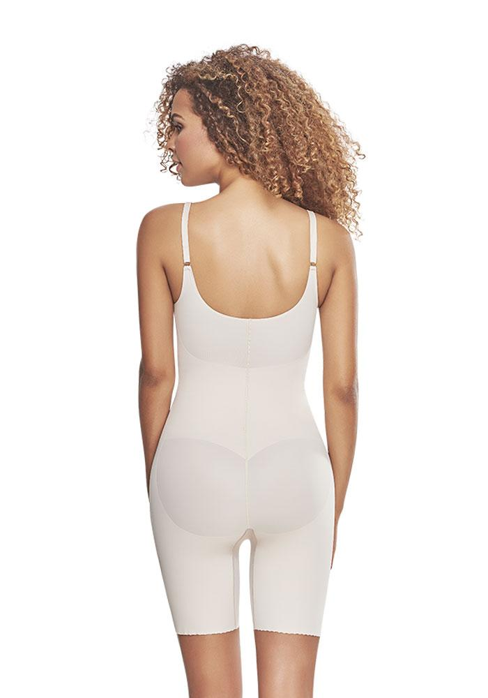 1278 Mid Thigh Bodysuit Shaper Short with Booty Lifter NUDE