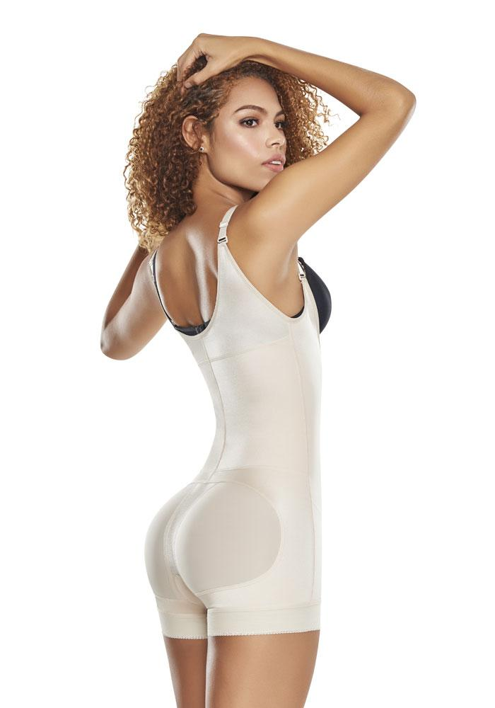 1200 Slimming Braless Body Shaper in Boyshort nude
