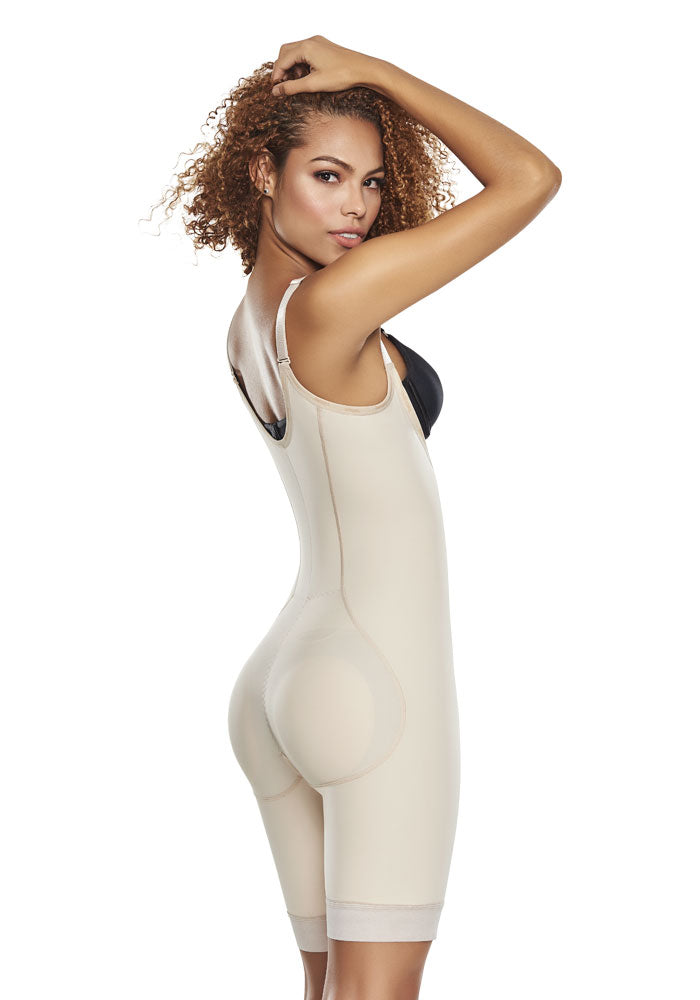 1205 Slimmer &Firm Control Open Bust Bodysuit with removable Pads Nude