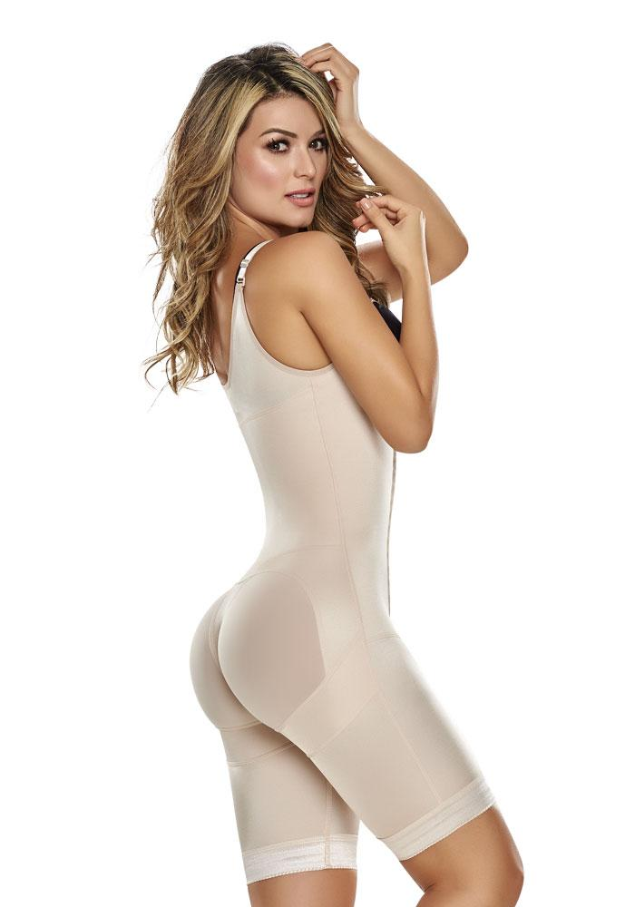 1251 Power Slimmed Mid Thigh Body Shaper Girdle Nude