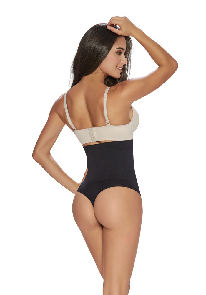 1277 Thong Hi Waist Cincher black