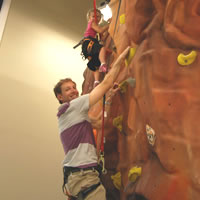 The Half-Moon Outfitters climbing boulder in West Ashley, SC is fun for all ages