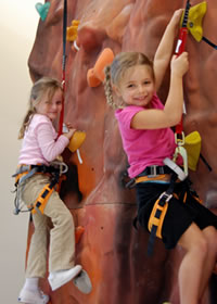 Host your next birthday party or event at the Half-Moon Outfitters climbing facility