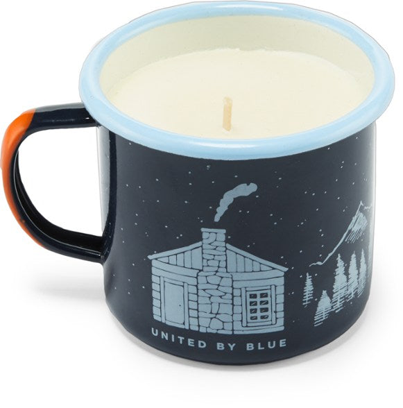Mountain Cabin Enamel Candle Mug