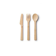 BAMBOO SPOON, KNIFE & FORK SET