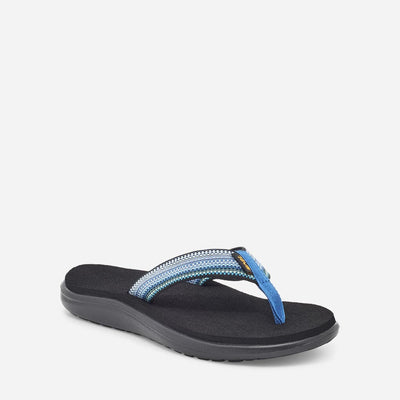 Teva Voya Flip Flops for Women Antiguous Blue Multi