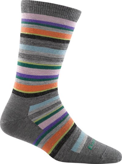 SASSY STRIPE CREW LIGHT SOCK FOR WOMEN