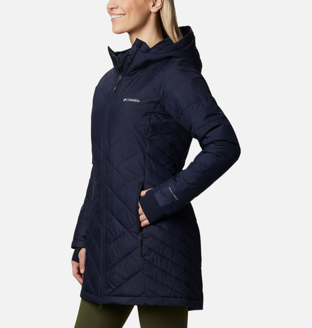 Columbia Sportswear Heavenly Long Hooded Jacket for Women Dark Nocturnal